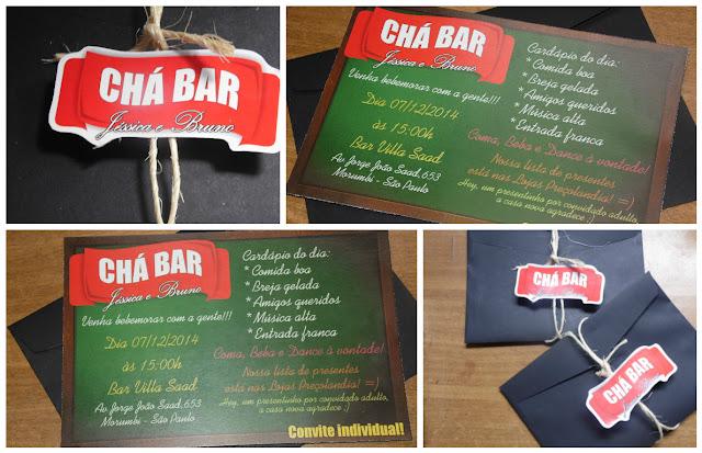 Convite Padrão - Chá Bar