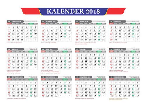 Jadwal libur nasional tahun 2018
