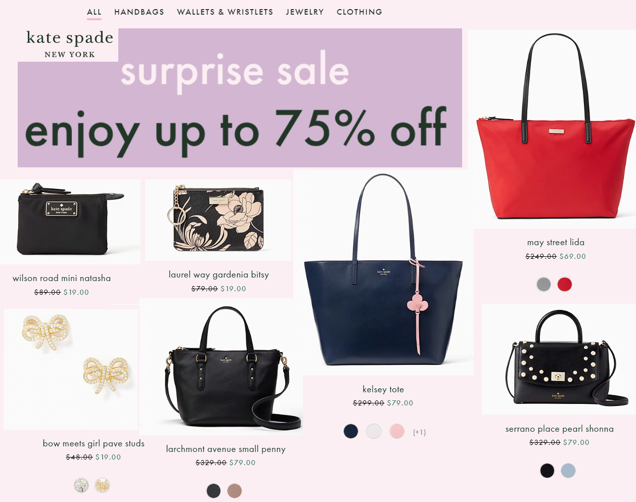b3a572193d1 Kate Spade Up To 75% Off Surprise Sale  Kate Spade Kelsey Tote Only  79  (Reg  229)