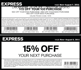 free Express coupons december 2016
