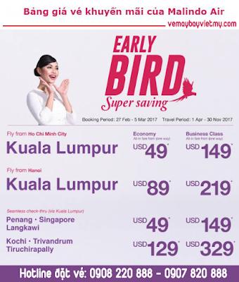 Thỏa sức bay cùng siêu khuyến mãi chỉ 49 USD của Malindo Air