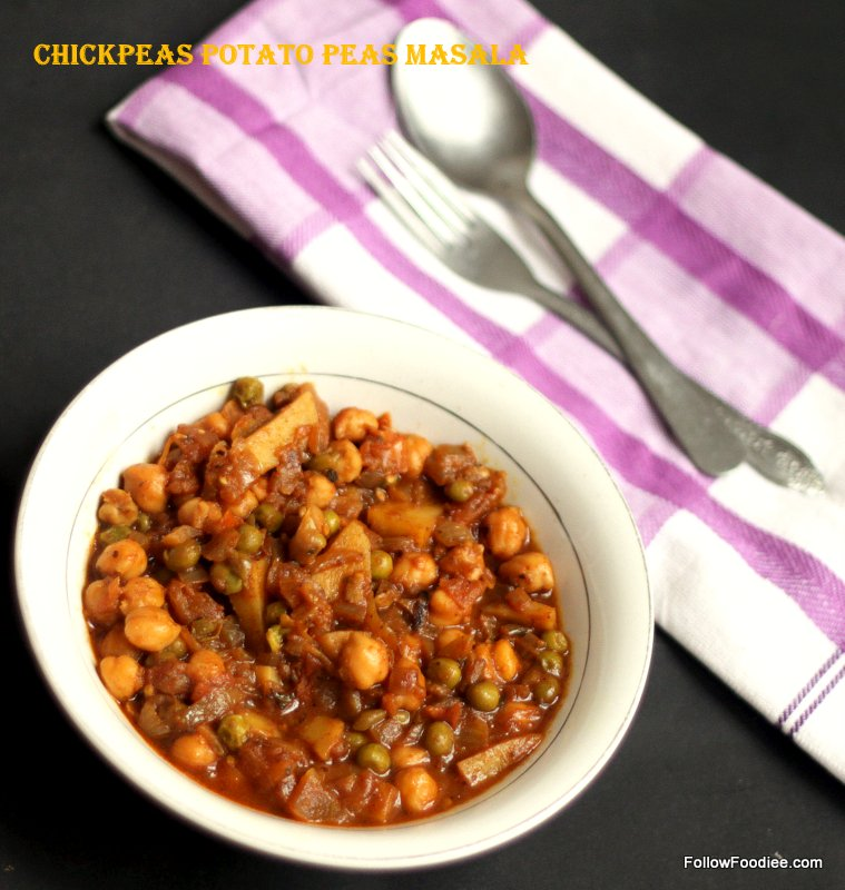 Chickpea Potato Peas Masala Recipe