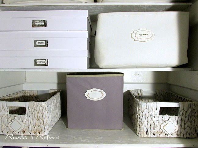 How to organize a very small linen closet