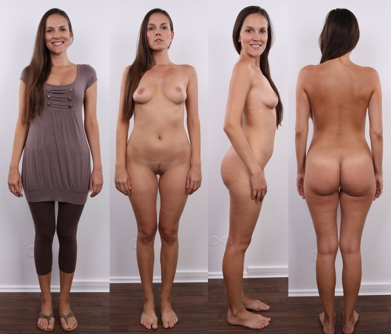 Model Audition - Posing Side By Side Cloth Unclothed -6503