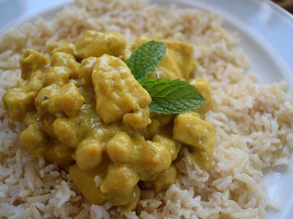 Rezept: indisches Curry mit Huhn und Kichererbsen