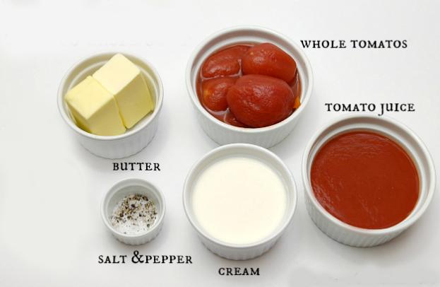 टमाटर का सूप बनाने के लिए आवश्यक सामग्री