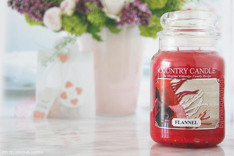 świeca zapachowa country candle flannel