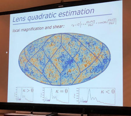 Planck analysis of CMB considers effects of gravitational lensing(Source: COSPAR/Planck Collaboration)