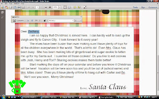 how to DIY a personalized Santa Claus letter