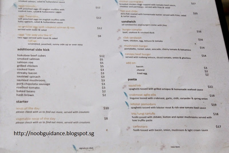 Checkout the menu!  sc 1 st  Noob Guidance & Noob Guidance: Canopy Garden Dining u0026 Bar (Bishan)
