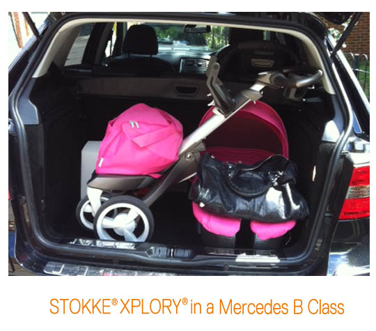 Stokke xplory in my boot for Mercedes benz baby pram
