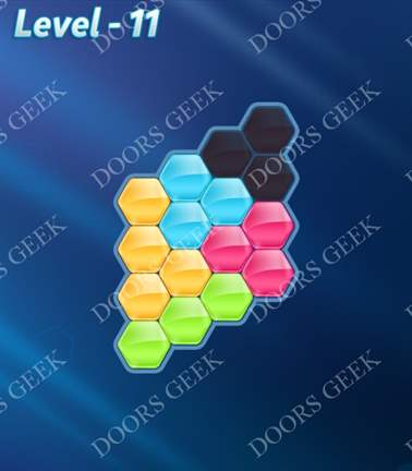 Block! Hexa Puzzle [5 Mania] Level 11 Solution, Cheats, Walkthrough for android, iphone, ipad, ipod