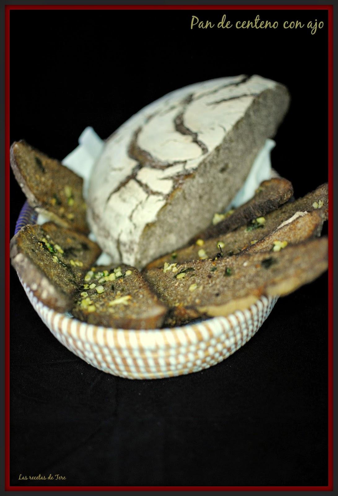 Pan de centeno con ajo tererecetas 02