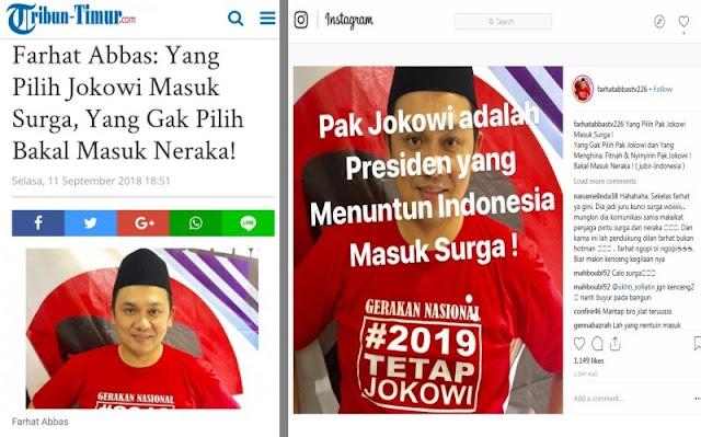 Farhat: Pilih Jokowi Masuk Surga, yang Enggak Masuk Neraka