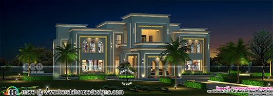 6 bedroom Luxury Arabian style house rendering