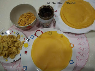 resipi crepe mudah dan sedap; crepe nutella pisang; cornflakes; resipi crepe senang