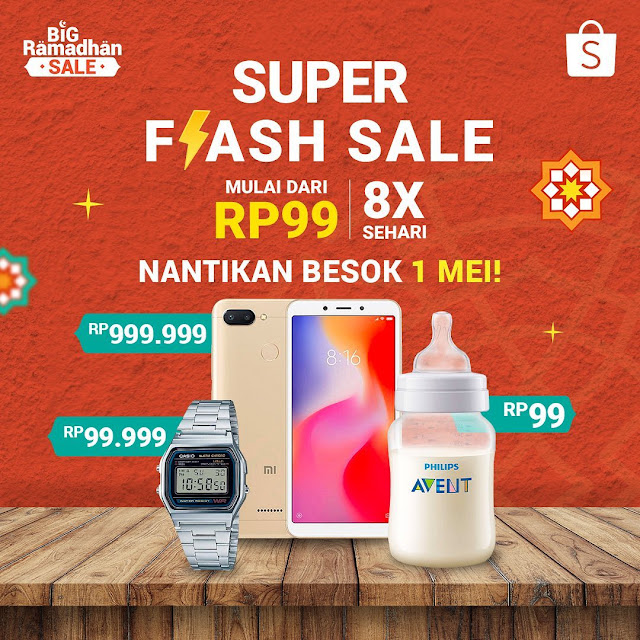 #Shopee - #Promo Ramadhan Flash Sale 8 Kali Sehari & Harga Mulai 99K (01 Mei 2019)