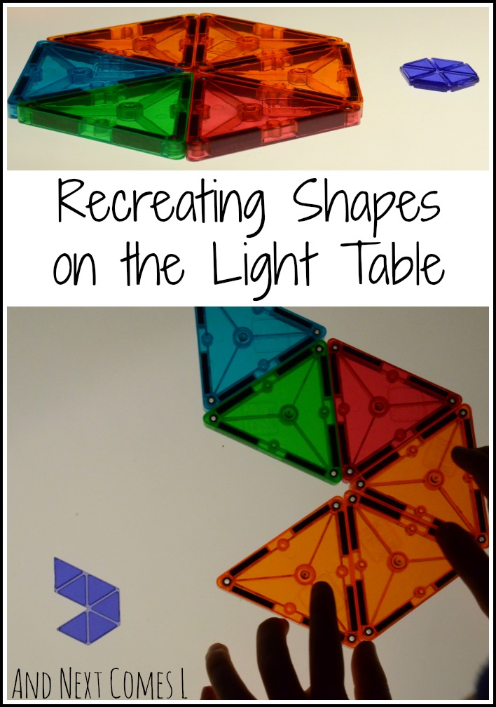 Recreating shapes on the light table from And Next Comes L
