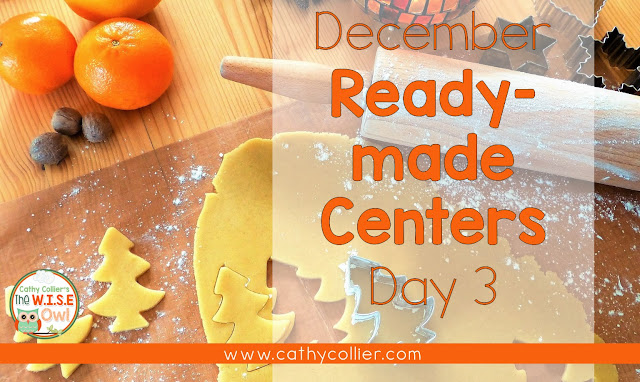 December Ready-made centers. Day 3: Holiday Vocabulary Cards.