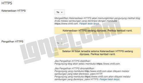 Kesalahan Blogger Tidak Bisa Aktifkan HTTPS
