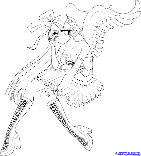 Cat Girl Coloring Pages In