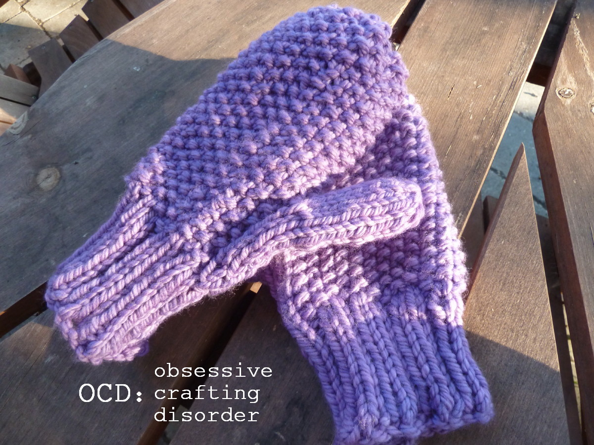 Ocd: Obsessive Crafting Disorder: Seed Stitch Mittens: A
