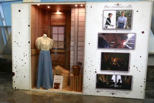 Lizzie film costume prop display