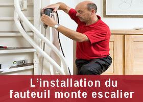 installer fauteuil monte escalier