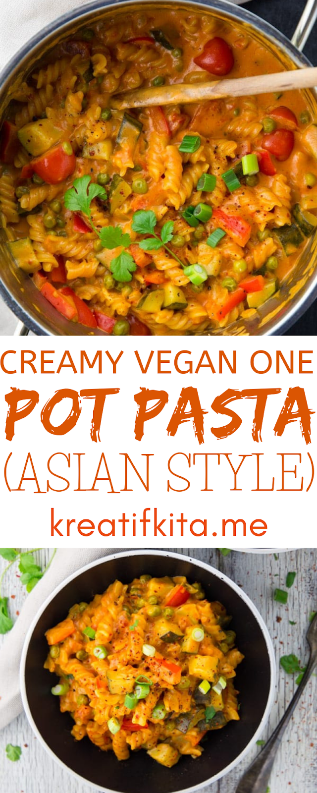 CREAMY VEGAN ONE POT PASTA (ASIAN STYLE)
