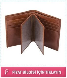 kişiye özel kahverengi cüzdan