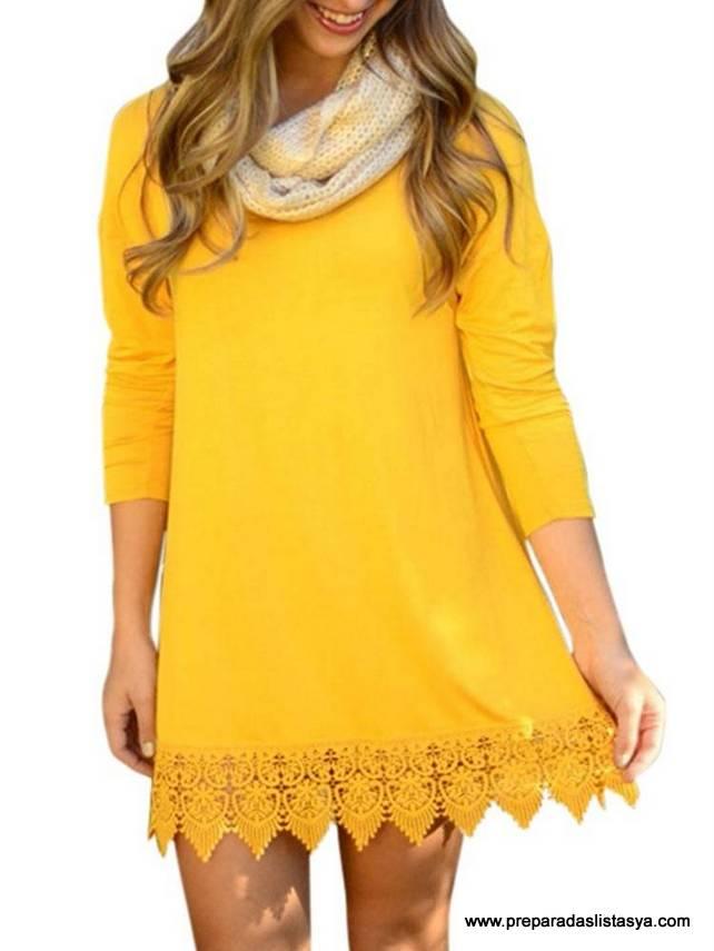 Vestido amarillo Newchic