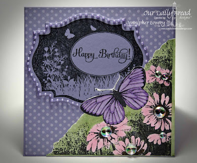 Our Daily Bread Designs, Butterfly Corner, Bird and Butterfly Labels, Birthday Blessings, Coordinating Spellbinders Labels Eighteen