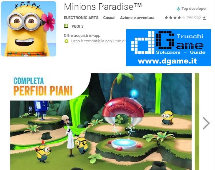 Trucchi Minions Paradise Mod Apk Android v10.0.3336