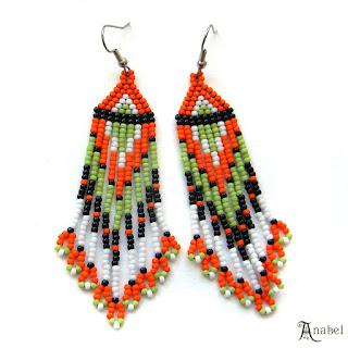купить серьги в подарок девушке женщине бисерные украшения