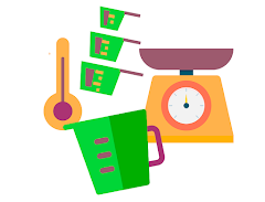Tabla de equivalencias y medidas en la cocina