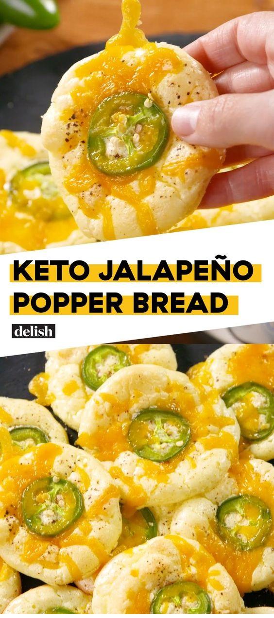 Keto Jalapeno Popper Bread