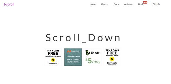 T-Scroll javascript