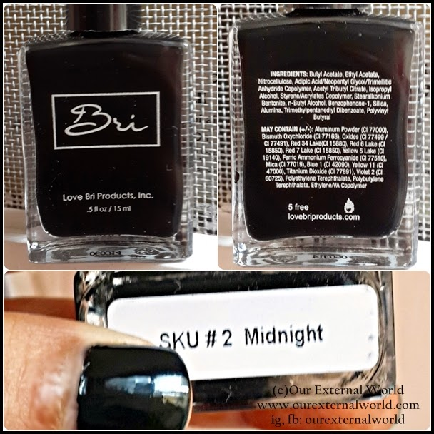 Review & Swatch: Love Bri Products Nail Polish #2 Midnight