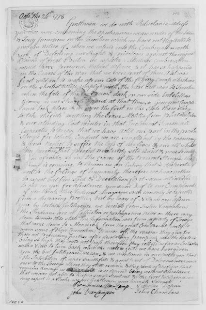 Minisink Valley Genealogy: George Washington's 1778 Papers