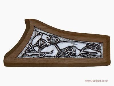 Guardian hand sculpted Celtic wall plaque
