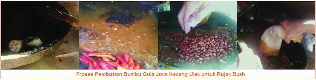 Proses Pembuatan Bumbu Gula Jawa Kacang Ulek untuk Rujak Buah