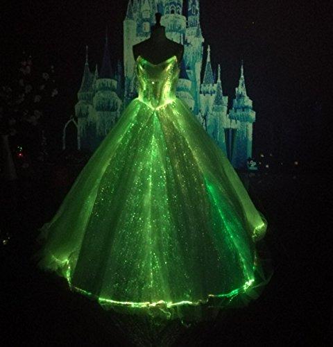 Met Gala Led Wedding Dress Light Up Bridal Gown Fiber