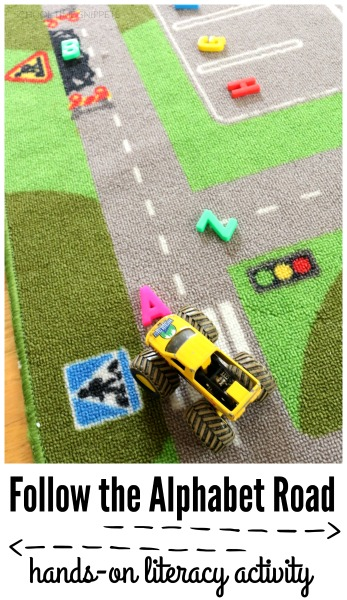 alphabet road activity for preschoolers