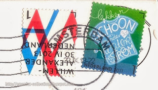 Inauguration King Willem-Alexander; Busy Green stamp
