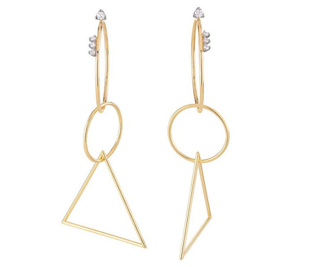 Geometric Code Diamond Earrings by H.Stern
