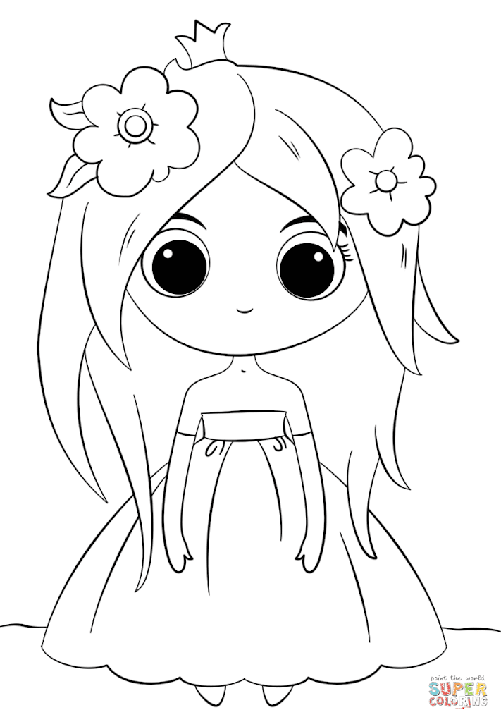 HD Cute Disney Princess Coloring Pages Image