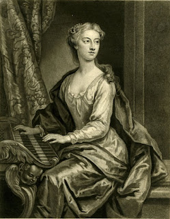 Anastasia Robinson, seated at a harpsichord, 1727. © The Trustees of the British Museum