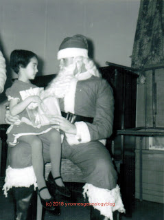 Yvonne with Santa Claus