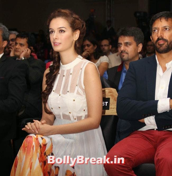Evelyn Sharma and Kabir Khan, Evelyn Sharma sizzles at Lonely Planet Magazine India Travel Awards 2014