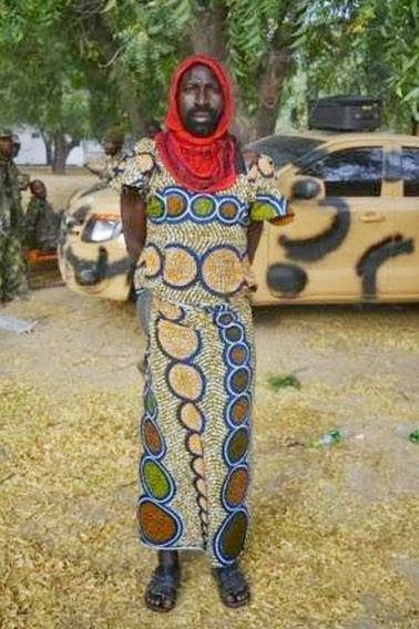 boko haram disguised as a woman